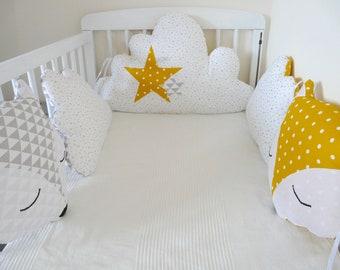 Tour de lit bébé | Etsy