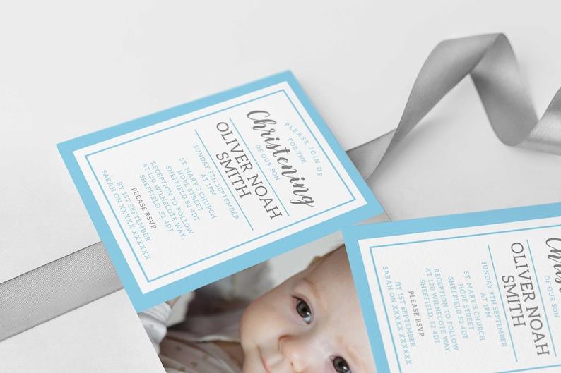 Girls Baptism Invite Boys Baptism Invite Editable Template Instant Download 5 x 7 Bapitsm Invite Christening Baptism Invitation