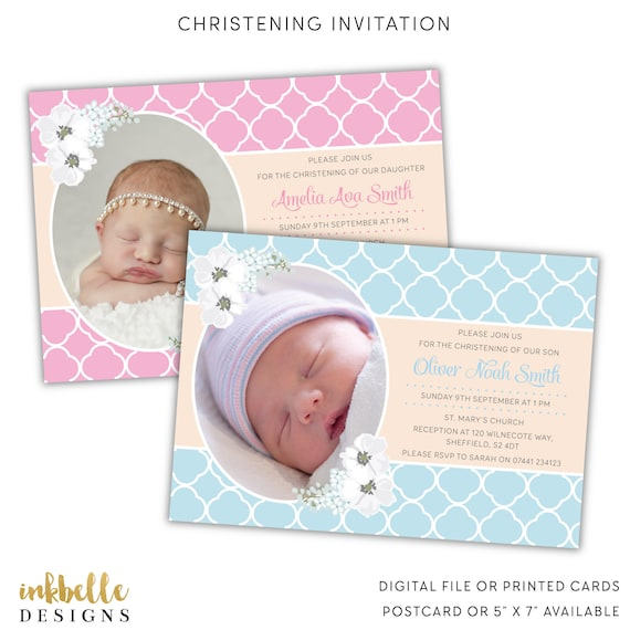 christening invitation baptism invitation naming day etsy