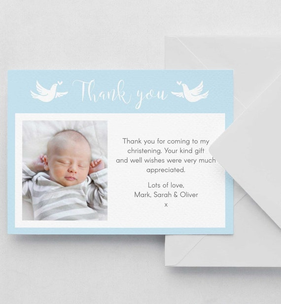 christening baptism thank you card editable template