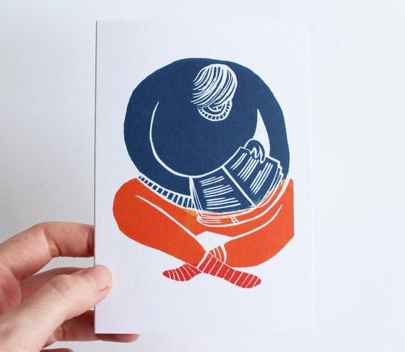 Love Lino Print Card