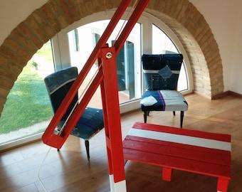 Ufficio Rosso E Bianco : Articoli simili a tavolino caffè fatto a mano con il legno di