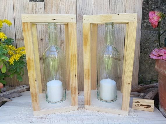 Portacandele Da Giardino : Set di portacandele da esterno o interno fatti con bottiglie etsy