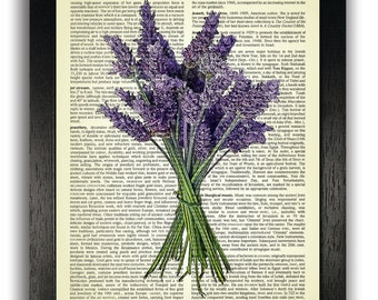 LAVENDER Art Print, Home Wall Decor, Lavender Poster, Dictionary Art Prints, Gifts for Girlfriend, Bedroom Wall Decorations, Lavender Art