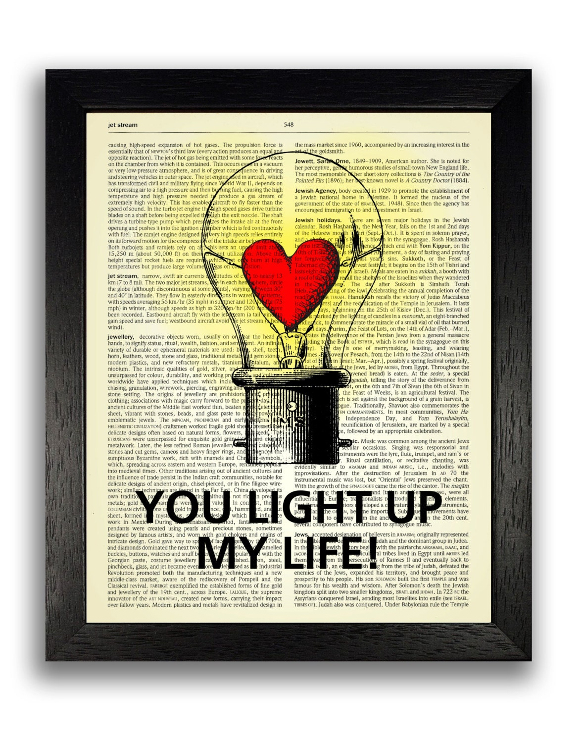 You Light Up My Life Art Print Anniversary Gift for | Etsy