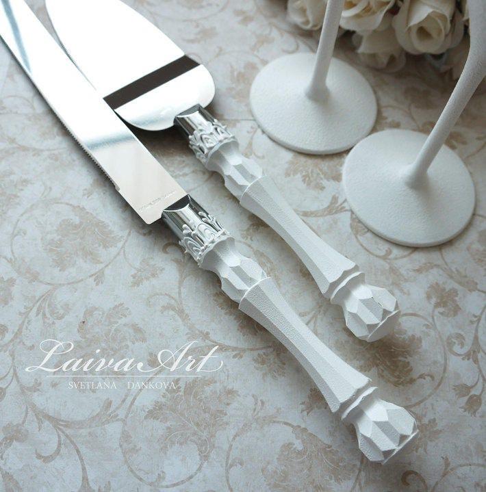 Wedding Cake Server Set Amp Knife Cake White Cutting Set