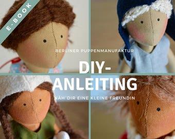 "Pattern & instructions for handmade doll ""Summergirl"", e-book, digital"