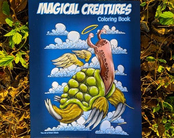 Magical Creatures Fantasy Art and Coloring book for Kids and Adults