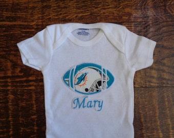 Miami Dolphins Personalized Baby Onesie b63417204