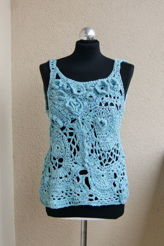 Vegan-Bluse konvex Muster OOAK Blume Bluse strukturierte | Etsy