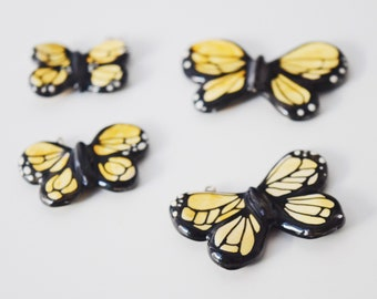 butterfly necklace - cold porcelain jewelry by ploudoll