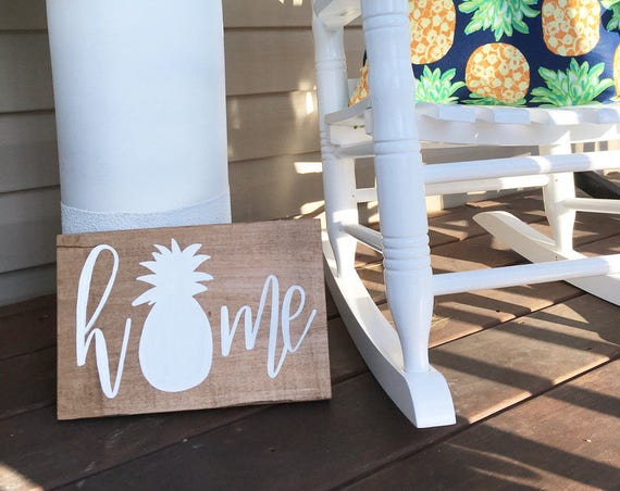 Home - pineapple sign - pineapple - theres no place like home