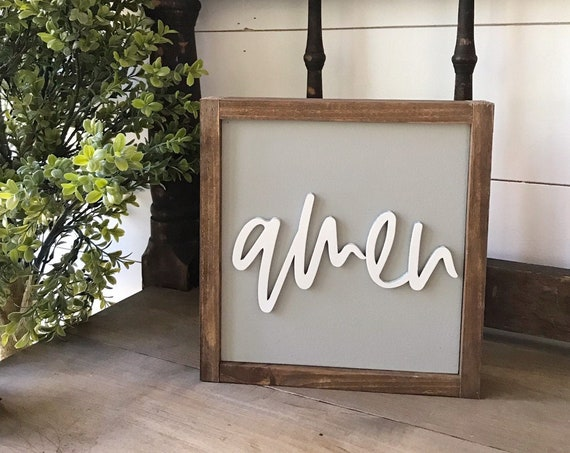 Amen sign - home decor - 3d laser sign