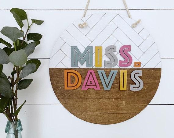 Teacher sign - personalized teacher gift - teacher decor