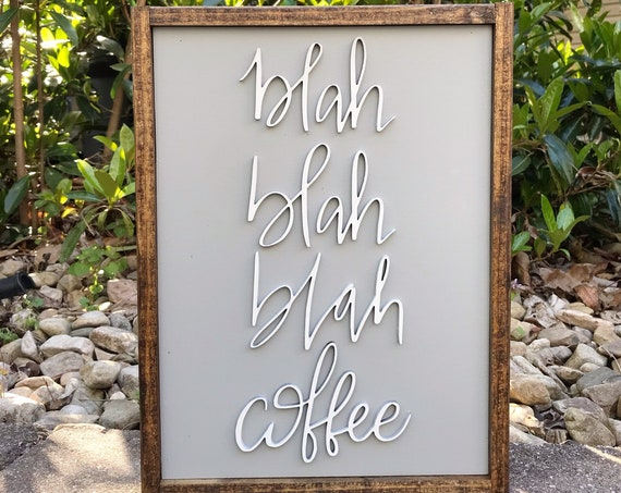 Coffee sign - laser sign - 3d wooden sign - kitchen decor - kitchen sign