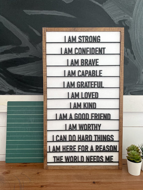 Kids daily affirmation sign