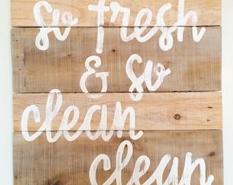 So fresh and so clean clean - laundry room decor - bathroom decor