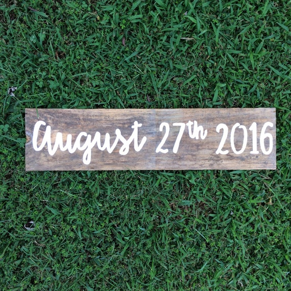 Rustic save the date sign - wedding date sign - engagement photo prop