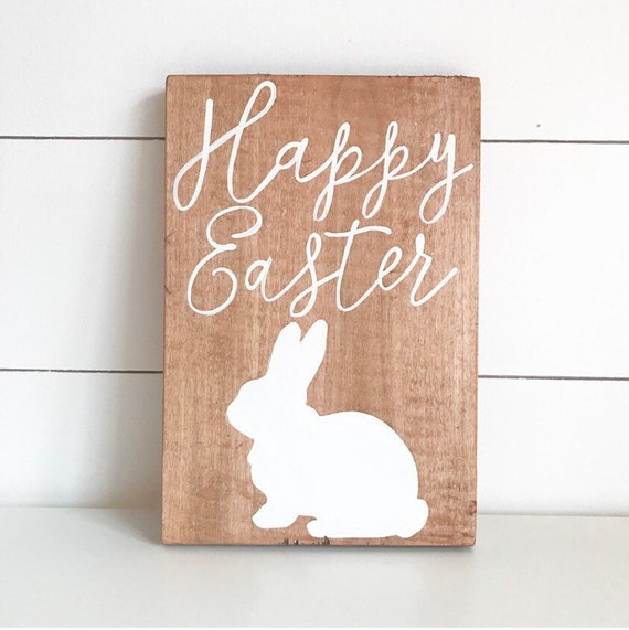 Happy easter - easter sign - easter - bunny - bunny sign