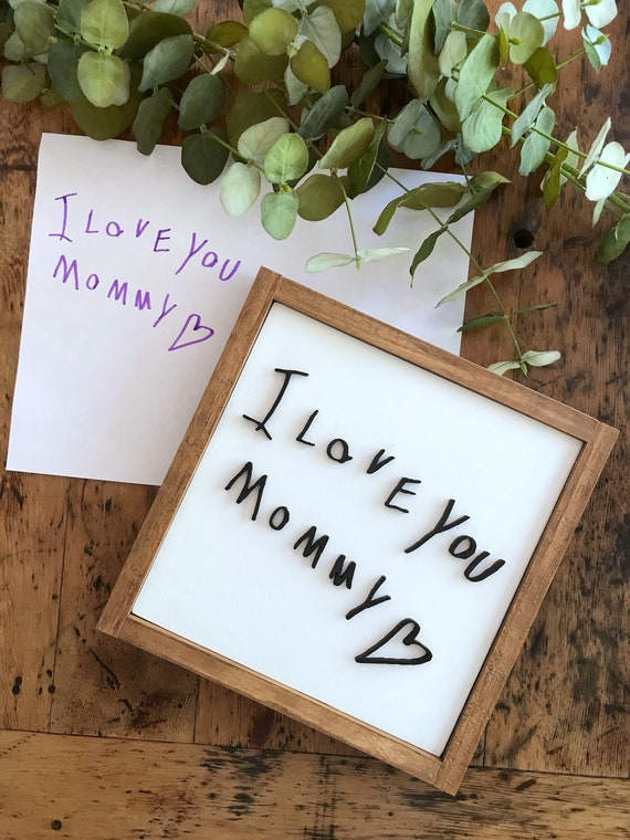 Personalized handwriting sign - 3D sign - handwritten sign - Mother's Day - gift - wooden sign