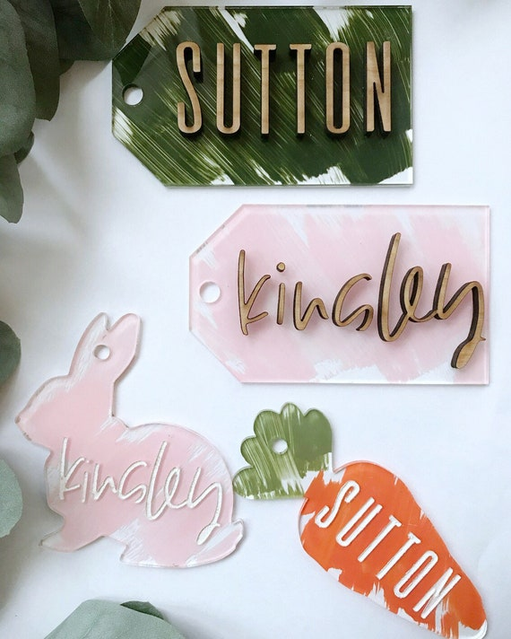 Easter tags - acrylic tags