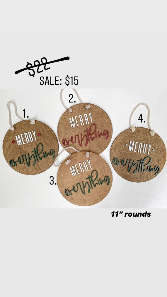 Christmas in JULY sale - ready to ship - Christmas rounds