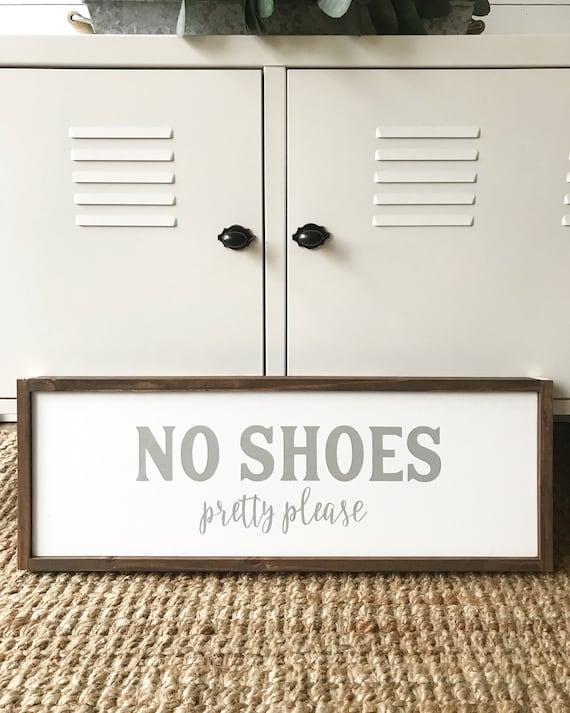 No shoes - farmhouse sign