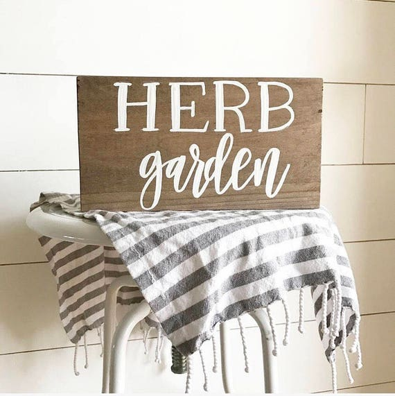 Herb garden sign - herb garden - rustic herb garden - kitchen sign - rustic sign - farmhouse sign