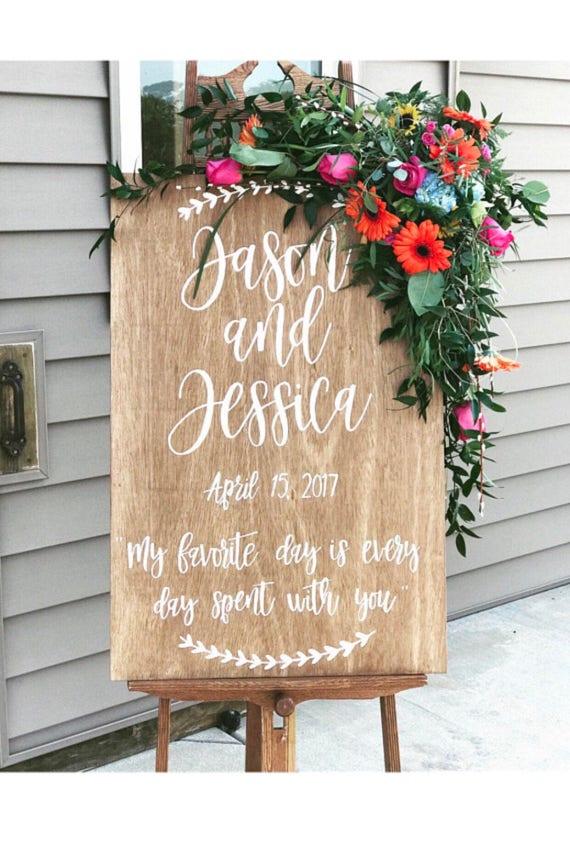 Wedding sign - wedding - rustic wedding sign - personalized wedding sign