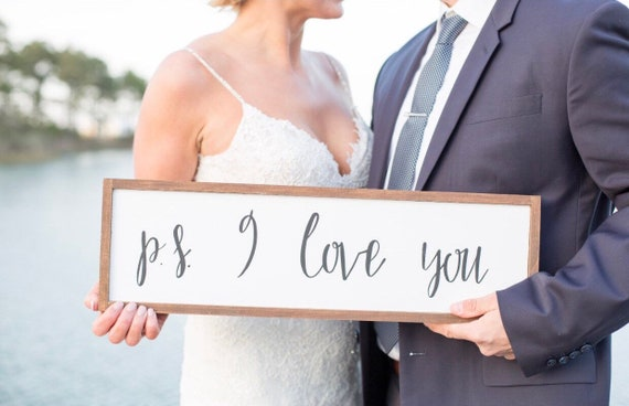 P.S. I love you - wood sign