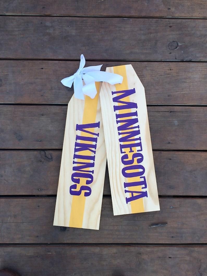 Front Door Decoration - Door Hanger - Minnesota Vikings Door Tag