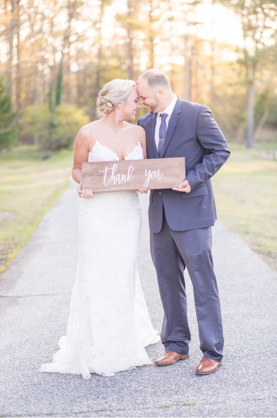 wedding thank you signs - wooden wedding signs - photo prop signs