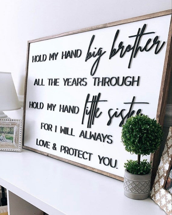 Brother and sister sign -