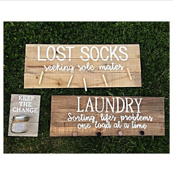 Laundry room decor - laundry decor - laundry signs