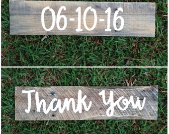 Rustic save the date sign - wedding date sign - engagement photo prop - wedding thank you