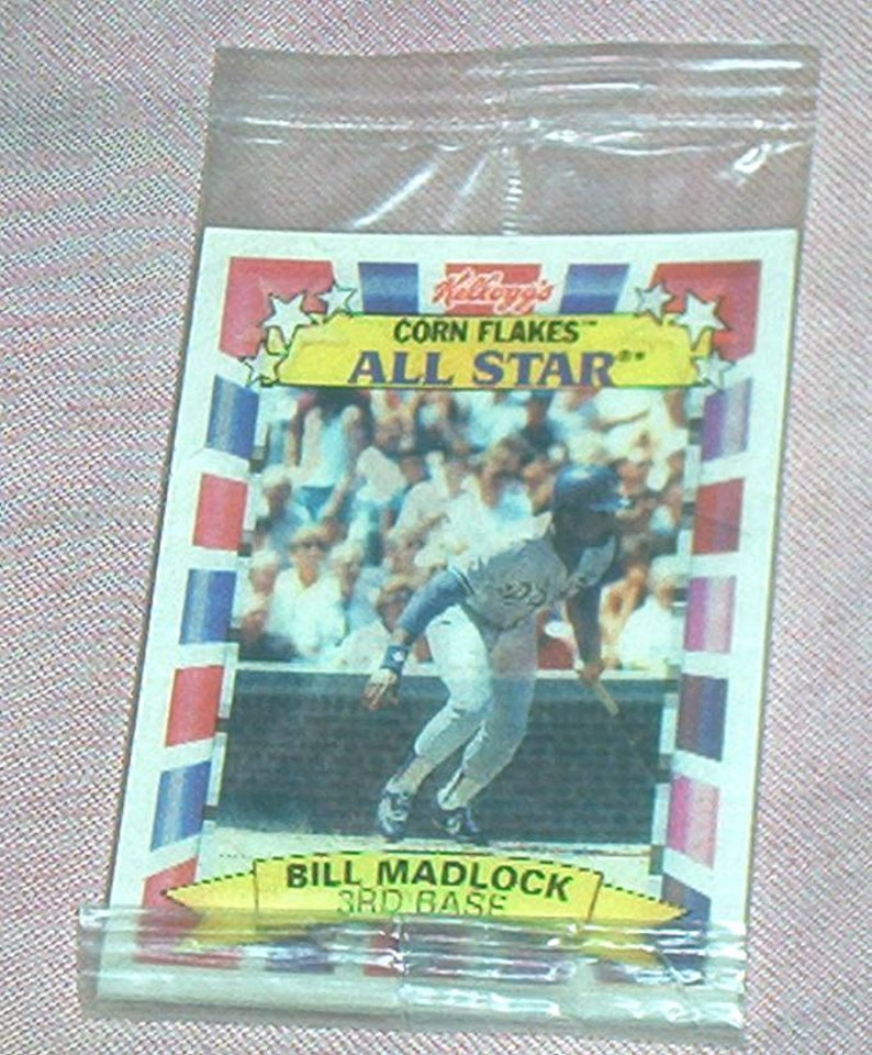 Kelloggs Corn Flakes Bill Madlock Dodgers All Star Sportflic Baseball Card 1992 Flicker Card Mint And Sealed In Package