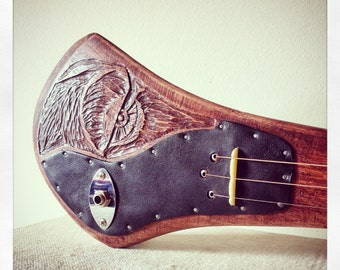 Hannibal - handcrafted electric guitar by DaShtick guitars. Celtic diddley bow. CBG