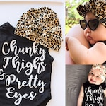 Pretty Eyes & Chunky Thighs Outfit : {2 items} • Soft Cheetah hat AND Black Onesie