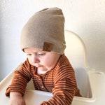 Sand: Beanie - boy newborn beanie, infant beanie, baby boy hospital hat, boy baby beanie, tan beanie, beige