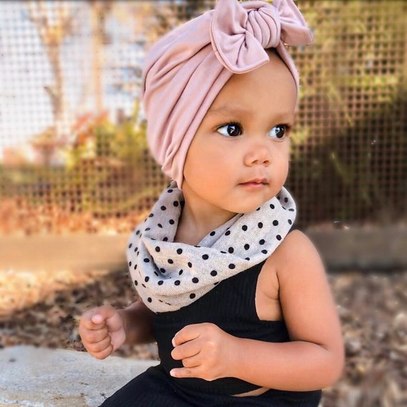 newborn hat pink  baby hat hospital hat baby turban baby bow hat w Flat Bow blush hat, soft baby turban hat Rosie Cheeks Hat: