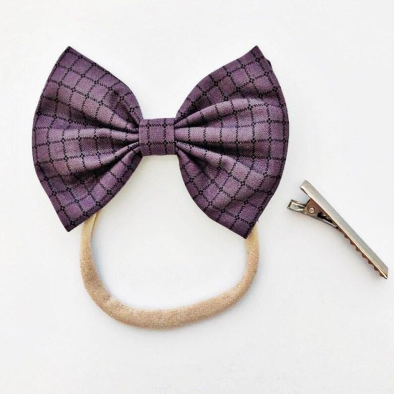 e49caa9c02e7 Plum Grid: baby bow baby purple plaid purple flannel plum | Etsy