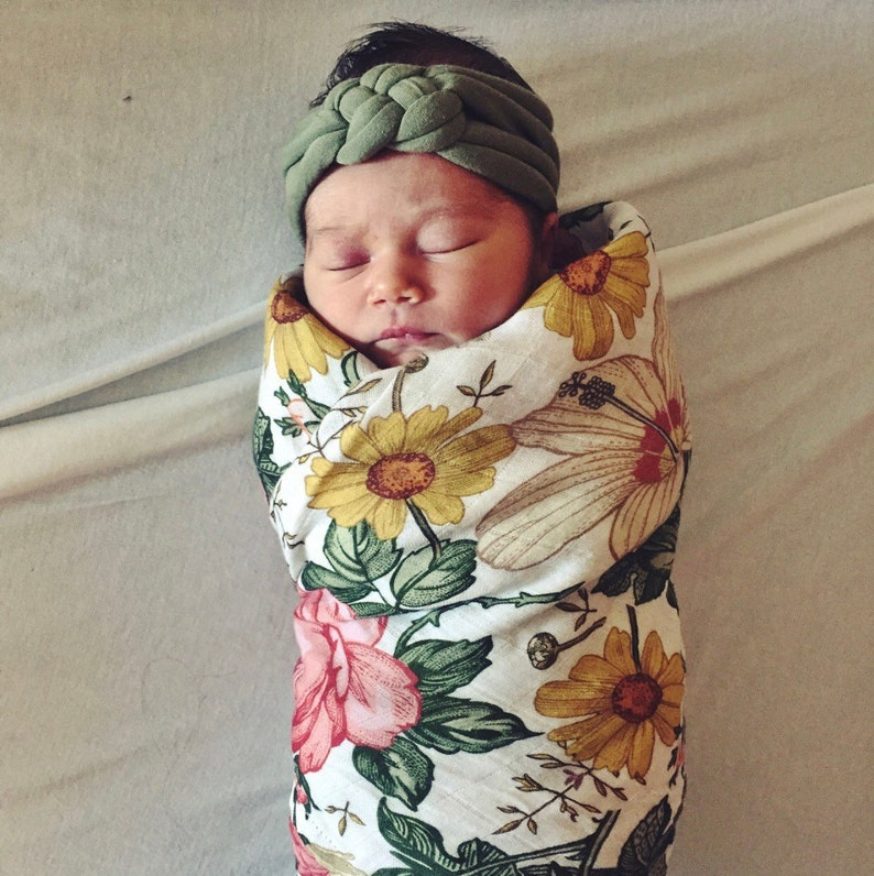Sage sailors knot: green baby head-wrap celadon baby image 0