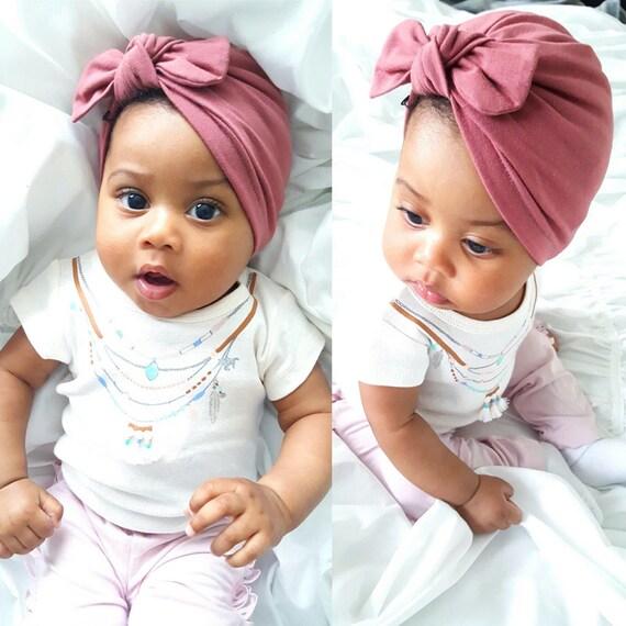 Mauve Pink baby turban hat baby turban newborn hat baby  632e5bb4c11