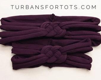 "Dark Purple ""Sailors Knot"": { Mommy & Me set}"