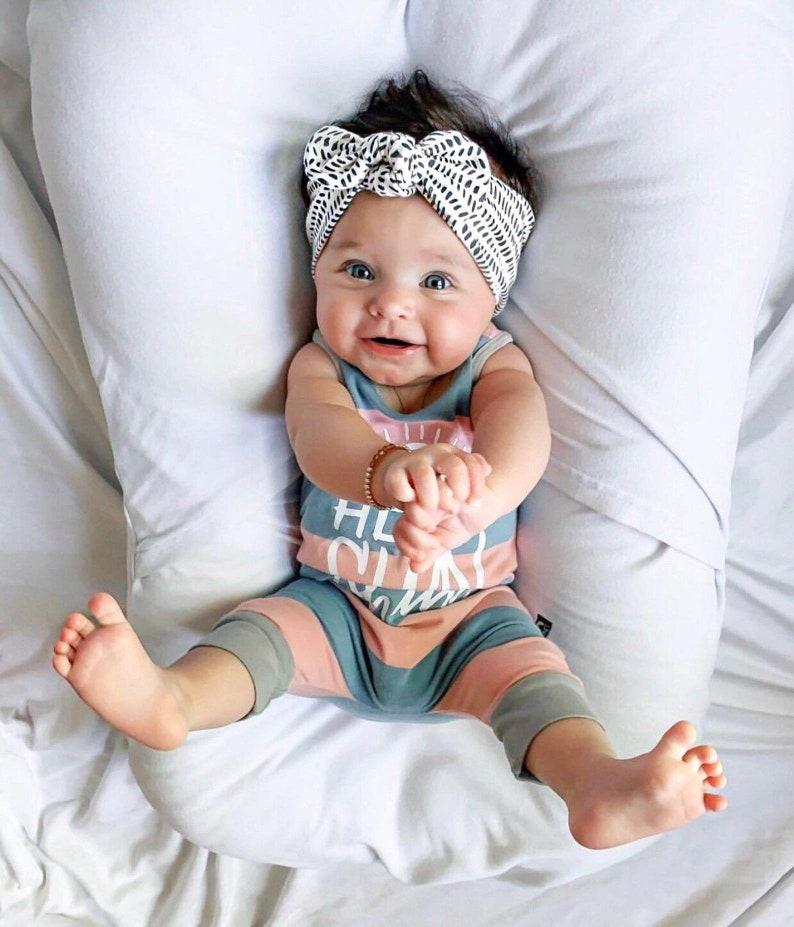 Ink Blots: Top Knot Headband  baby headband toddler image 0