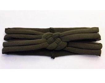 ADULT Army Green sailors knot headband