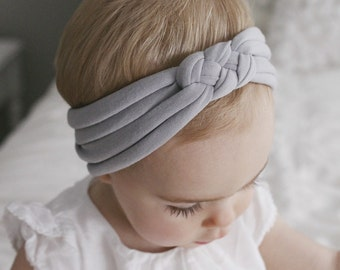 Light Gray : sailors knot headband