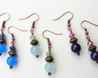 Chinese Spring Lantern Earrings : Gemstone