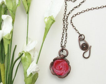 Rosette Necklace  - Handcrafted with love by Grass Roots Studio - SPRING 2018
