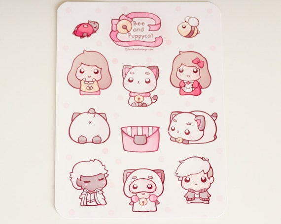 Bee And Puppycat Stickers Etsy